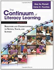 continuum of literacy learning pdf