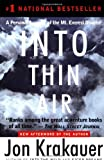 Image of Into Thin Air By Jon Krakauser (a Personal Account of the Mt. Everest Disaster)