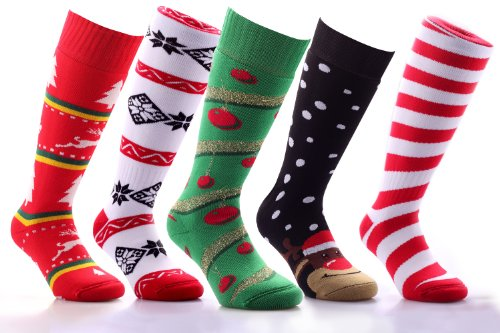 CHRISTMAS SOCKS COSY & WARM FOR FOOTBALL FUTSAL RUGBY HOCKEY SOCKS ...