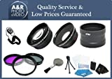 High Definition 0.45x Wide angle and 2x Telephoto Lens Kit Plus 3 Filters and Lens Adapter For Olympus Tough TG-1 iHS Camera