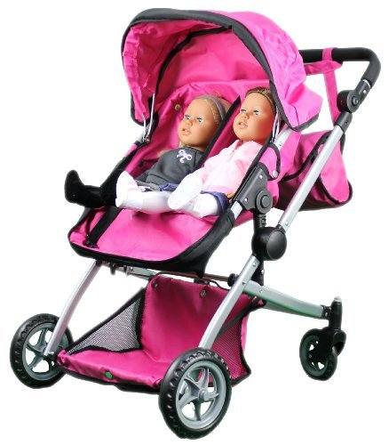 Babyboo Deluxe Twin Doll Pram Stroller with Free Carriage ...