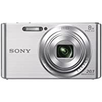 Sony Cybershot DSCW830 20.1MP Digital Camera with Camera Case and 8GB Memory Card - Silver