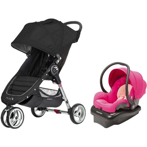 Baby Jogger City Mini & Mico Ap Travel System (Black/Passionate Pink) front-849005