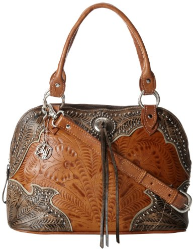 American West Heart Of Gold Top Handle Bag,Harvest Gold/Distressed Brown,One Size
