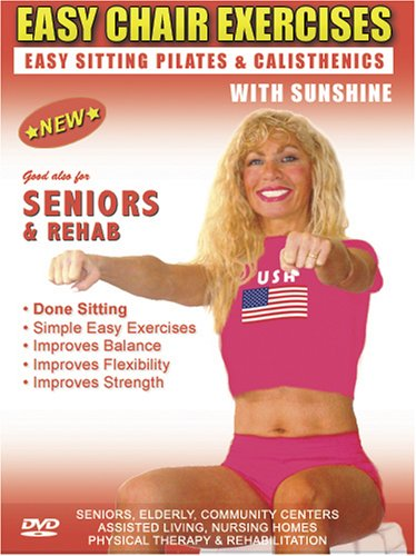 Seniors Exercise DVD: Senior / Elderly Sitting Exercises DVD, Easy Sitting PILATES Strength, Rehab & Physical Therapy. Seniors Elderly Exercises DVD. This Sitting Seniors Fitness DVD is Good also for Easy Osteoporosis Exercises, Diabetes Exercises, Arthritis Exercises, Alzheimer's Exercises DVD.