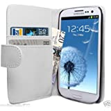 Galaxy S3 Case - Leather Wallet Flip Cover for Samsung Galaxy S3, White
