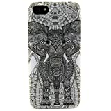 iPhone 5S Case, JCmax Cute Fashion Slim Thin Protective Glossy Silicone TPU Gel Skin Back Shell Case Cover for Apple iPhone 5 5S + Screen Protector and Stylus Pen - [Elephant Pattern]