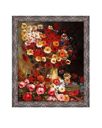 Vincent Van Gogh Vase With Poppies Cornflowers Peonies And Chrysanthemums Framed Canvas