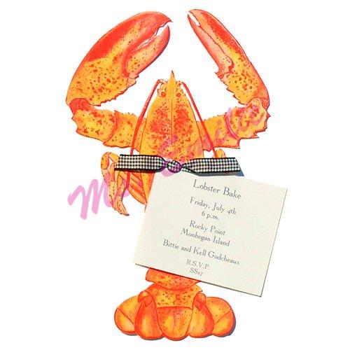 Lobster Die-Cut Card, Pack Of 10 front-945828