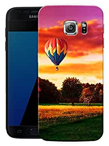 """Humor Gang Hot Air Balloon And Landscape Printed Designer Mobile Back Cover For """"Samsung Galaxy S7"""" (3D, Matte, Premium Quality Snap On Case)"""
