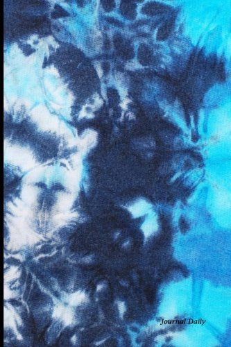 Journal Daily: Blue Tie Dye Pattern, Lined Blank Journal Book, 6 x 9, 200 Pages