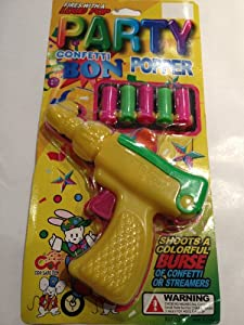 Champagne Bottle Party Streamers Party Poppers Cannon ... |Party Poppers Streamers