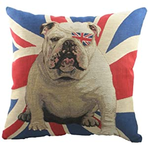 Union Jack & Bull Dog Cushion by Evans Lichfield