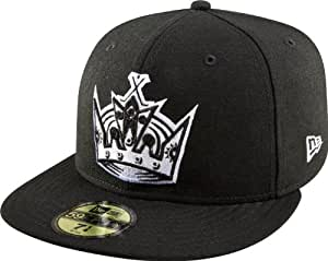 NHL Los Angeles Kings Basic Black and White 59Fifty Cap, Black/White, 7 7/8