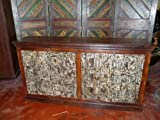 Hand Carved Teak Old Doors Chest Sideboard Buffet Furniture From India