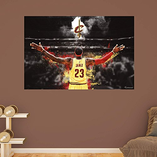 NBA Cleveland Cavaliers LeBron James 2015-2016 The King Real Big Mural
