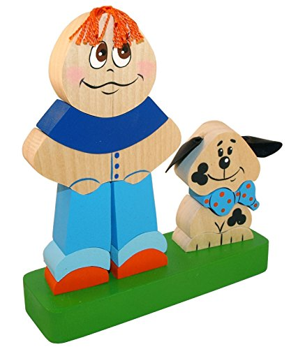 Unique Stacking Toy - Best Friends - Handcrafted and Hand-painted Wooden Ornament - 14 pc set (Kenmore Washer Stacking Kit compare prices)