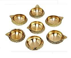 GAC Trend Golden Brass Diyas Set of 7