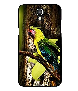 printtech Wild Colorful Parrot Tree Back Case Cover for Samsung Galaxy Mega 2 , Samsung Galaxy Mega 2 G750F , Samsung Galaxy Mega 2 G7508 Samsung Galaxy Mega 2 Duos G7508Q for China with dual-SIM card slots