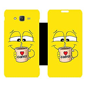 Phone Candy Designer Flip Cover with hi-res printed Vinyl sticker wrap-around for Samsung Galaxy J5