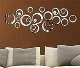 Miroir autocollant autocollant 3D design moderne conception future métal surface décoration murale vignette salon chambre à coucher...