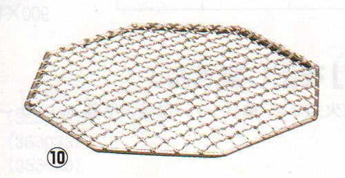 焼き網 八角 ホルモン焼き網 18-8ステンレス製