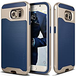 Galaxy S6 Case, Caseology [Wavelength Series] Textured Pattern Grip Cover [Navy Blue] [Shock Proof] for Samsung Galaxy S6 (2015) - Navy Blue