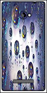 Snoogg Abstract Water Bubbles Designer Protective Back Case Cover For HTC Windows Phone 8S