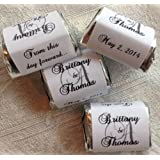 300 Personalized MONOGRAM WEDDING CANDY WRAPPERS/Stickers/Labels (Make your own event or party favors using your HERSHEY NUGGET CHOCOLATES)