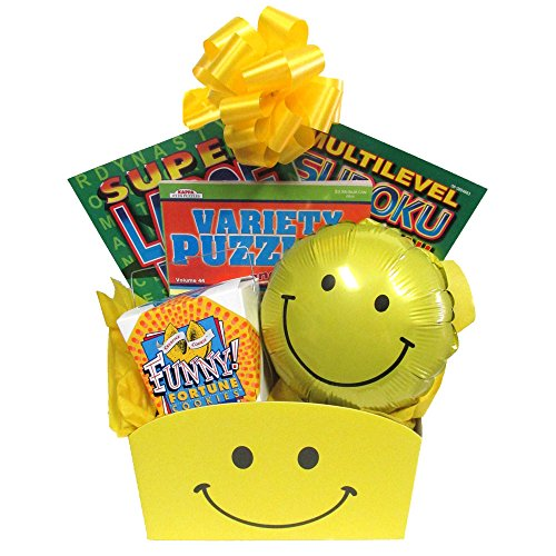 Gifts Fulfilled Gift Baskets Original Puzzles and Smiles Gift Box with Puzzle Books for Adults
