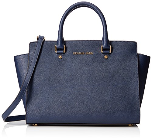 michael-kors-selma-lg-tz-satchel-sacs-a-main-femme-bleu-blu-navy-taille-unique