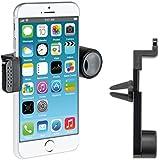 kwmobile SOPORTE UNIVERSAL PARA COCHE con brazo para Apple iPhone 6 Plus / 6S Plus en negro - ¡Su teléfono encajará también con su funda o carcasa!