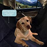 Patpets Deluxe Waterproof Pet Seat Cover With Bonus Pet Car Seat Belt for Cars and SUV -Nonslip, Quilted, Extra Side Flaps, Machine Washable Pet Hammock Car Seat Cover