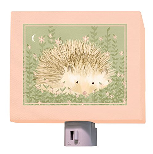 "Oopsy Daisy Holly The Hedgehog Night Light, Green/Pink, 5"" x 4"""