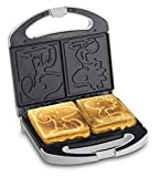 Smart Planet SGCM-2 Peanuts Snoopy and Woodstock Grilled Cheese Sandwich Maker, White