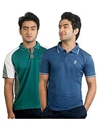 Nitrite Sports Polo Half Sleeves Mens Performance Tshirt Pack Of 2 | NTP2O25
