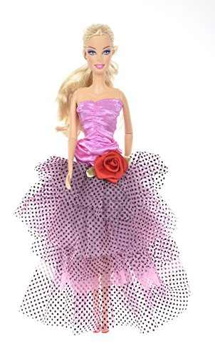 Banana Kong Doll's Dot Mesh Layered Party Dress Gown - 1