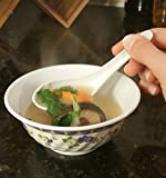 Chef Miso Set of 4 Soup Bowls and Spoons - White 8 oz