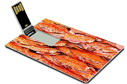 Liili 32GB USB Flash Drive 2.0 Memory Stick Credit Card Size IMAGE ID: 14746299 Colorful grilled crabs and Thai style sauce (Thai Micro Crab compare prices)