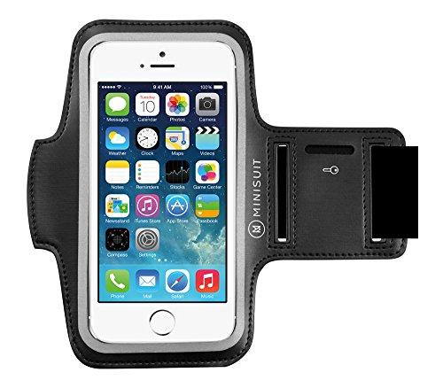 iPhone 6 Plus 5.5 アームバンド ネオプレーン素材 防水加工 キーポケット付 アップル Apple アイホン アイフォン ブラックMiniSuit日本正規輸入代理店品