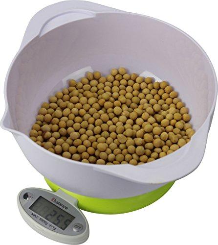 ARETOP® Balance numérique avec 2 bols pour Colis et Aliments, Pèse Cuisine avec Fonction Tare Capacité 5kg
