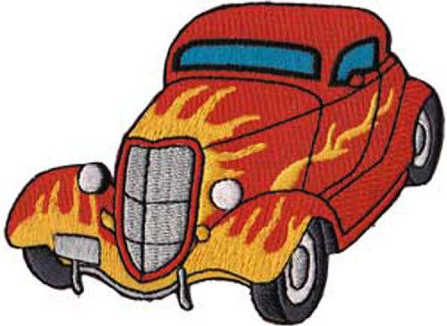 Application Red Hot Rod with Flames Patch