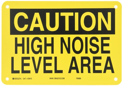 Brady 25472 Plastic Ear Protection Sign, 7