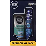 Nivea Men Fresh Active Original Deodorant Spray, 150ml With All In One Face Wash, 100ml