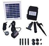 Garden Sun Light APP012B 3 Watt Solar Panel with Water Pump Battery LED
