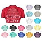 AEL Bolero Cardigan Crochet Knitted S...