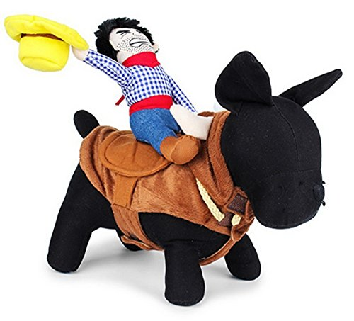 dddee-pet-costume-apparel-dog-riders-cowboy-wear-style-knight-harness-clothing-with-hat-size-medium