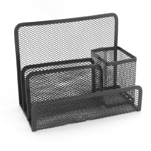 4 Fächer Standregal Bücherregal Kappe Netz schwarz Metallic Kugelschreiber mit Halter für Schüler