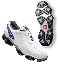 FootJoy Mens XPS-1 Golf Shoes : White-Blue Medium 10.5