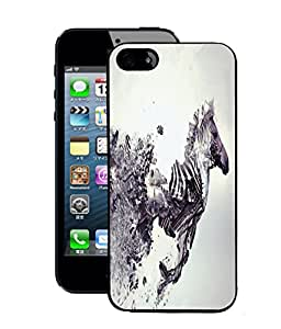 Fuson 2D Printed Zebra Designer Back Case Cover for Apple iPhone 5S - D1054